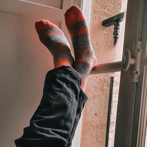 Chaussette chaude colorée homme et femme